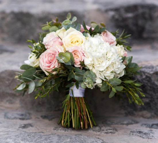 Wedding Wish - legant, Canadian Wedding at Santorini - Floral Design