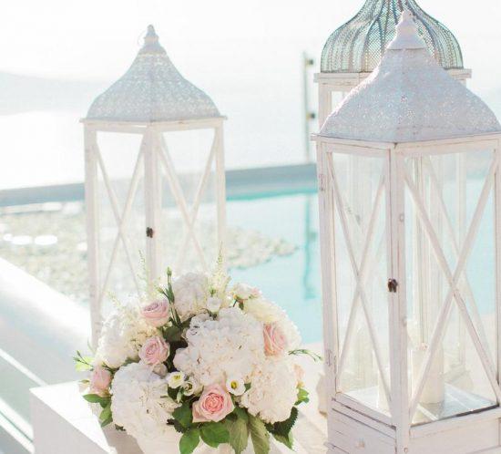 Wedding Wish - A glam Affair - Santorini Wedding Floral Design